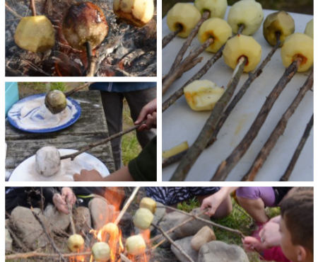 Campfire Toffee Apples