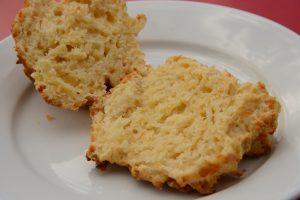 Cut cheese scone