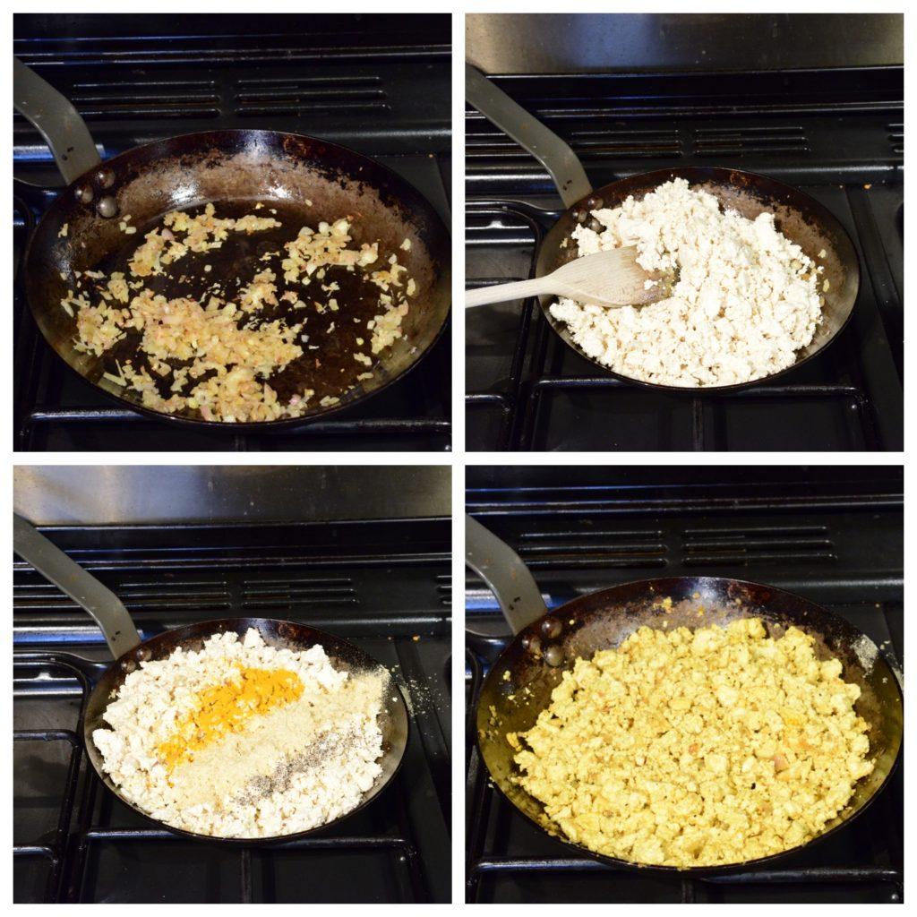 Process of making Tofu Scramble
