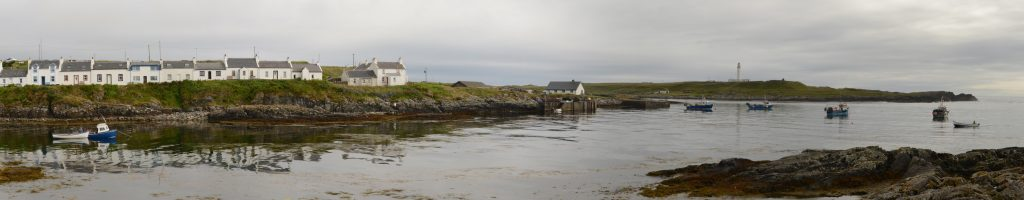 View of harbour entrance in Portnahaven, Isle of Islay, Scotland
