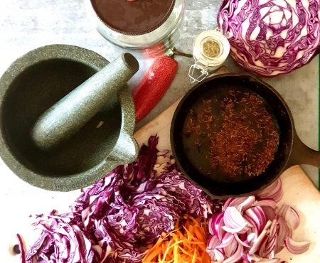 Fermented Red Cabbage Curtido