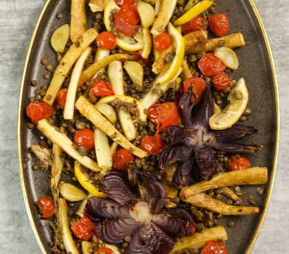 Mediterranean Roasted Parsnips