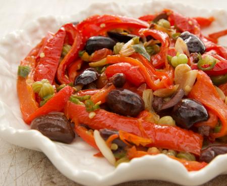 Nasturtium Caper, Olive & Chilli Peperonata