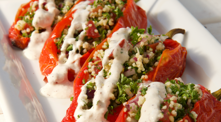 Tabbouleh Stuffed Peppers